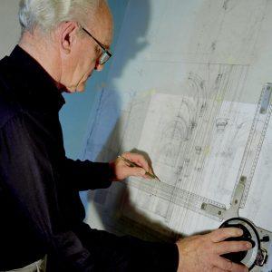 Ernst Bittcher Konstruktion am Zeichenbrett