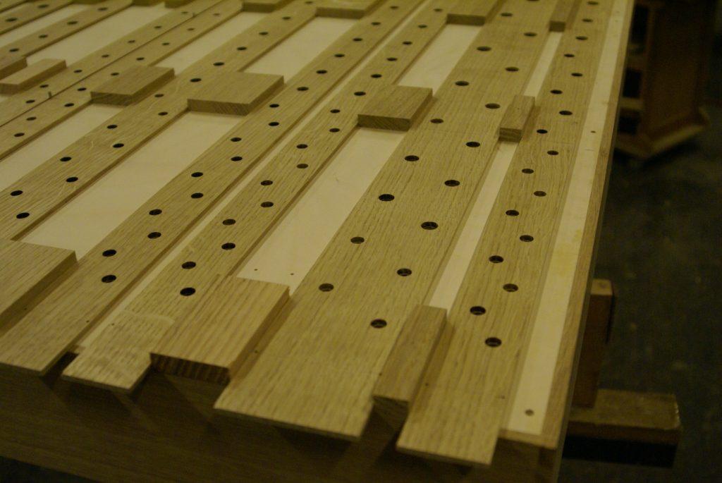 Windlade mit Holzschleifen