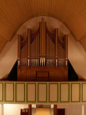 die Orgel ist fertig in Øksfjord, Loppa Kommune, Norwegen