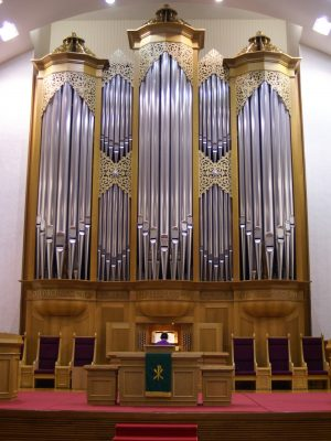 die Orgel der Adam´s Chapel der Keimyung Universität in Daegu, Korea
