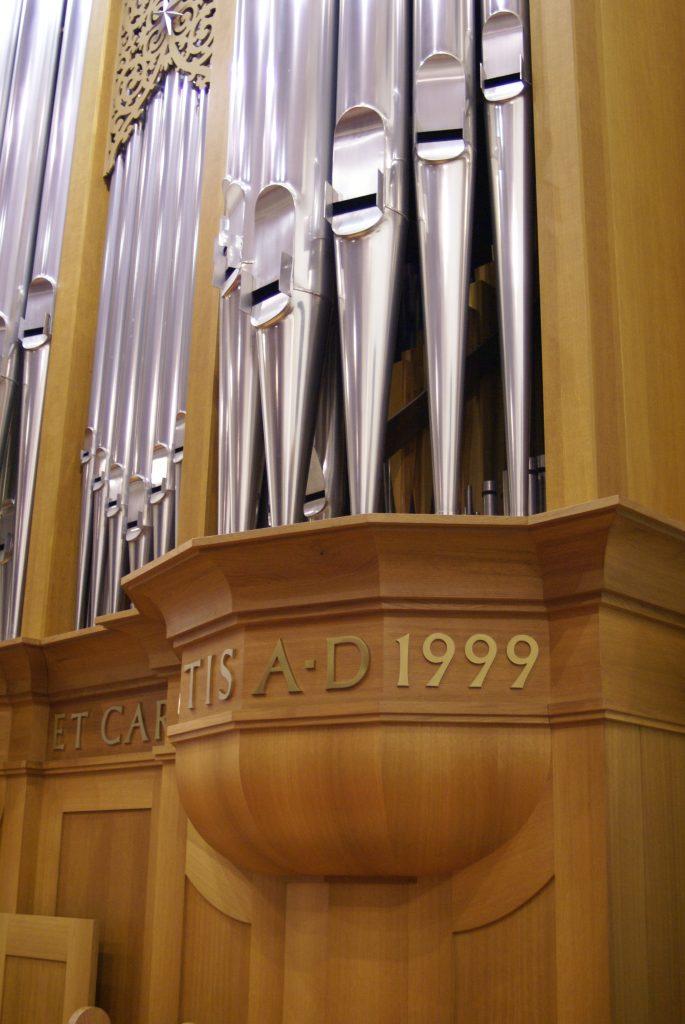 Detail der Orgel in der Adam´s Chapel der Keimyung Universität in Daegu, Korea