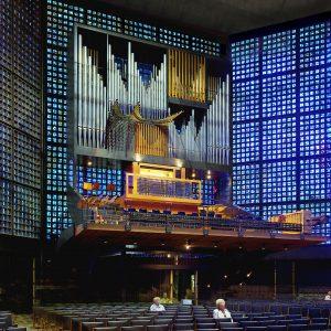 die Orgel der Kaiser Wilhelm Gedächtniskirche in Berlin, Berlin, Deutschland