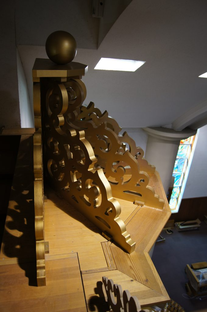 die Krone der Orgel in der Adam´s Chapel der Keimyung Universität in Daegu, Korea