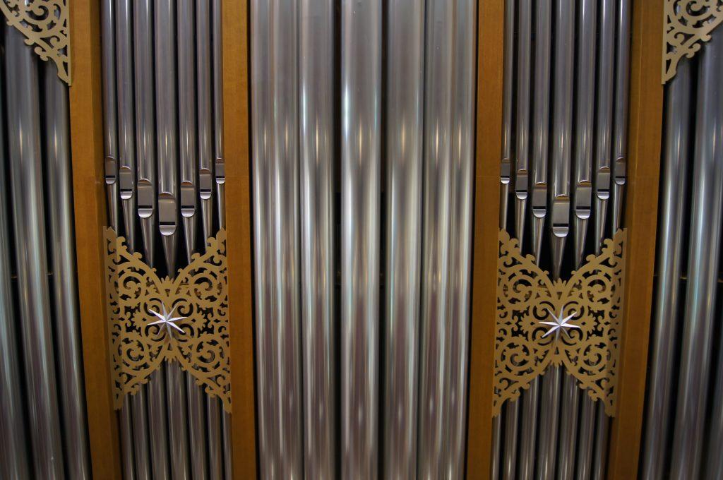 Prospektdetail der Orgel in der Adam´s Chapel der Keimyung Universität in Daegu, Korea