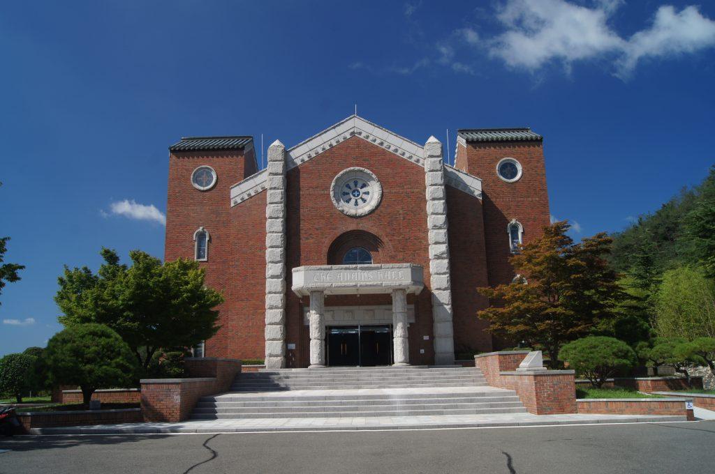 die Adam´s Chapel des Campus der Keimyung Universität in Daegu, Korea