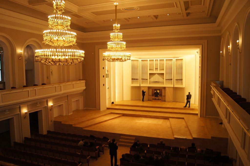 Abnahme der Orgel in der Philharmonie Katowice, Schlesien, Polen, Filharmonia Slaska