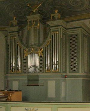 die Orgel in der Vang Kirche vor der Reinigung, Hamar, Hedmark, Norwegen