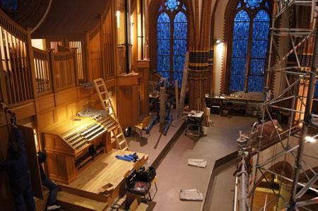 Baustellenimpressionen in der Paulus Kirchengemeinde in Berlin Zehlendorf, Deutschland