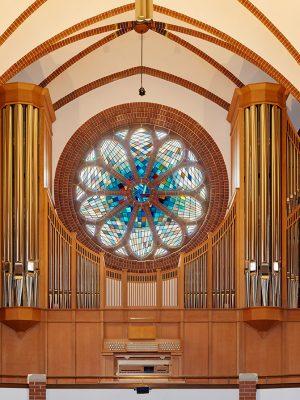 Prospekt der Orgel in der Pauluskirche in Berlin Zehlendorf, Berlin Deutschland