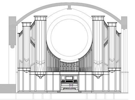 Entwurf für die Paulus Kirchengemeinde in Berlin Zehlendorf, Deutschland