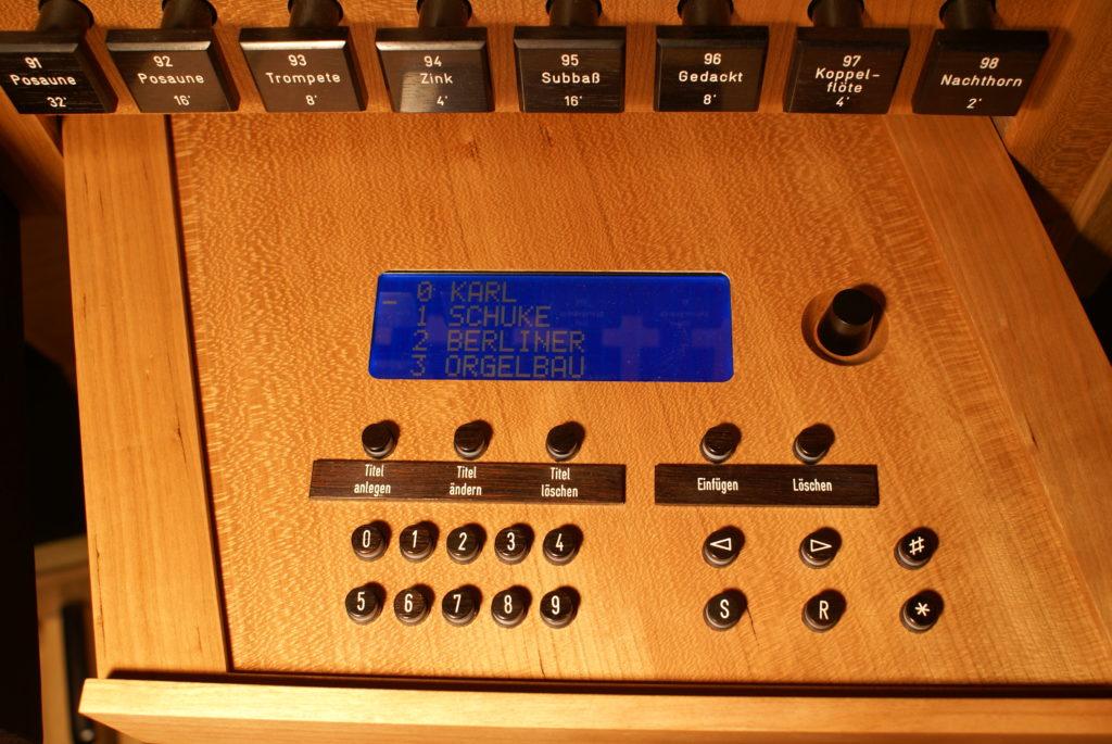 Setzeranlage der Orgel im St. Petri Dom zu Schleswig