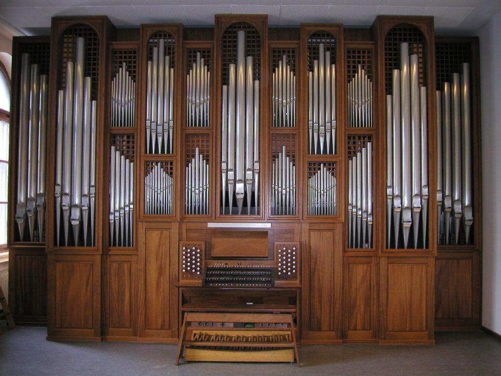 die Übungsorgel der Musikhochschule München, Bayern, Deutschland