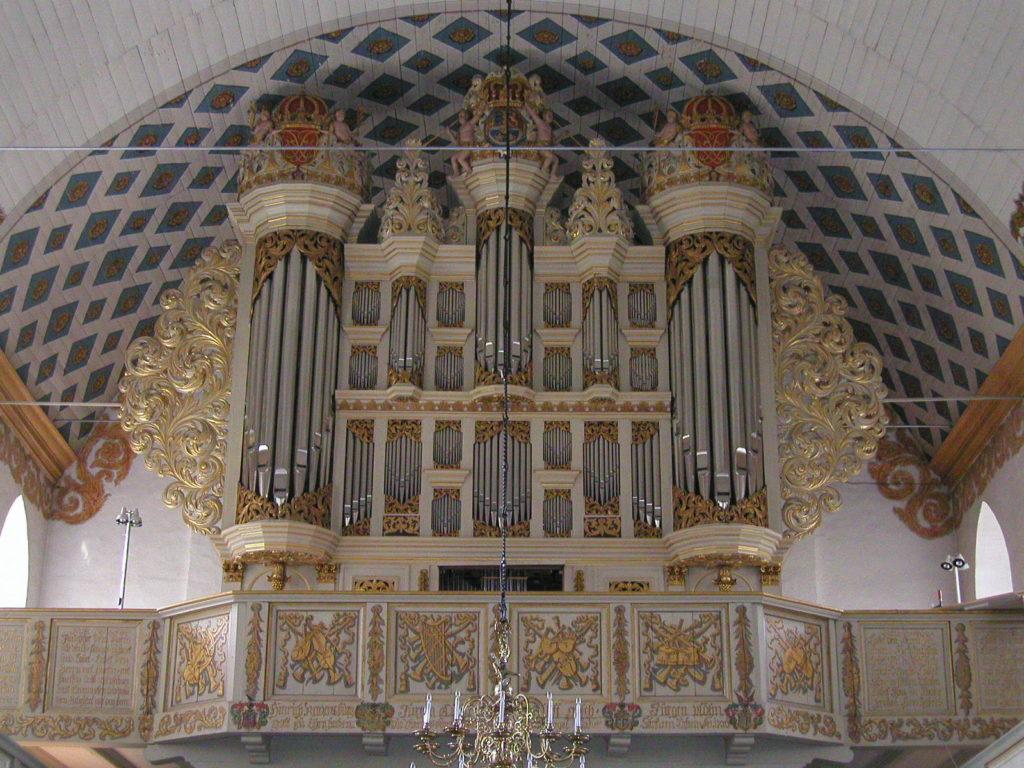 die Orgel der Christkirche in Rendsburg, Schleswig Holstein, Deutschland