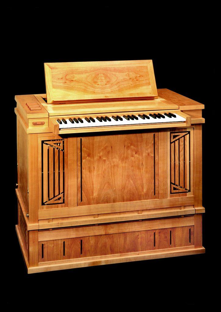 Truhenorgel der Berliner Orgelbauwerkstatt, Karl schuke, transportabel, leicht und vielseitig, transponierbar