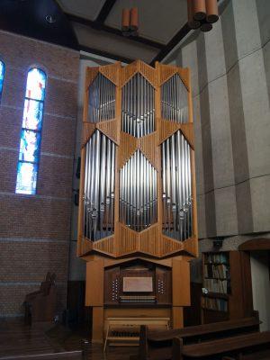 Orgel der Lutheran Church in Tokio, Shinjuku, Japan
