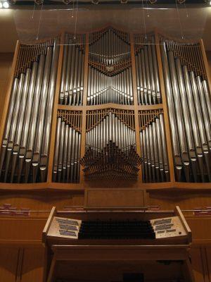 die Konzertsaalorgel im Aichi Arts Center in Nagoya, Aichi Prefectual Arts Center, Japan