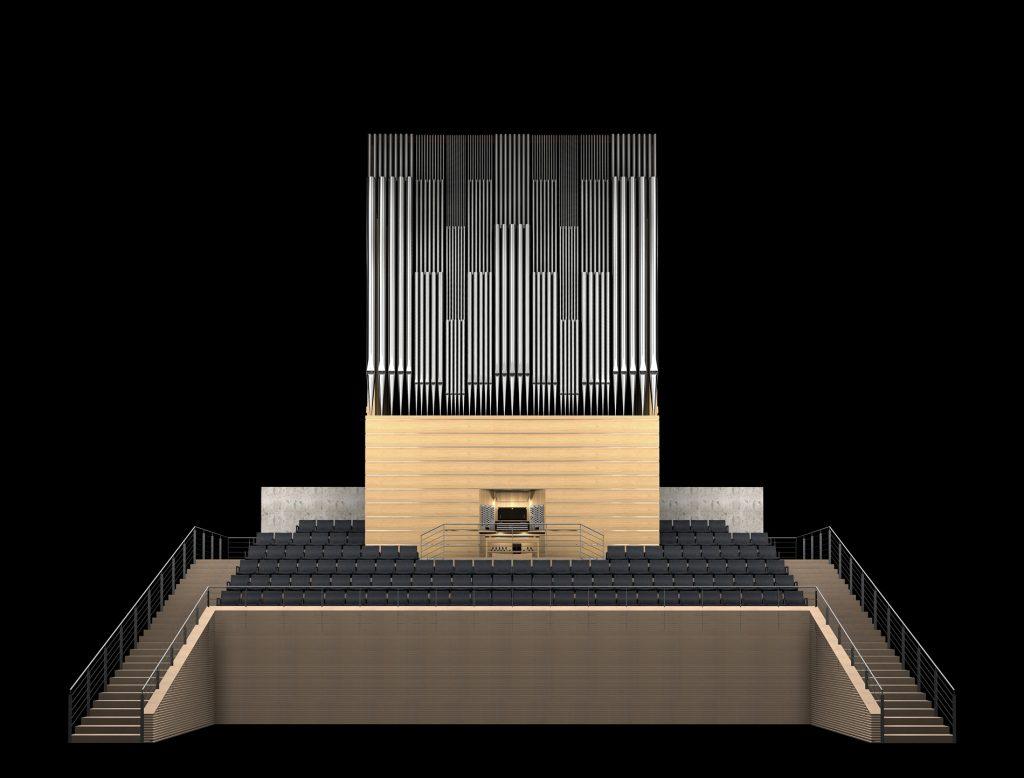 Prospektentwurf der Firmen Johannes Klais Bonn und Karl Schuke Berliner Orgelbauwerkstatt , Neubrandenburg, Mecklenburg Vorpommern, Deutschland