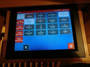 KWG - Registerschaltung ist auch über den Touchscreen und aus der Ferne möglich