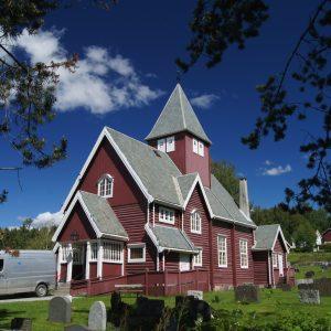 Moen Kirke in Brandbu, Gran Kommune , Oppland , Norwegen