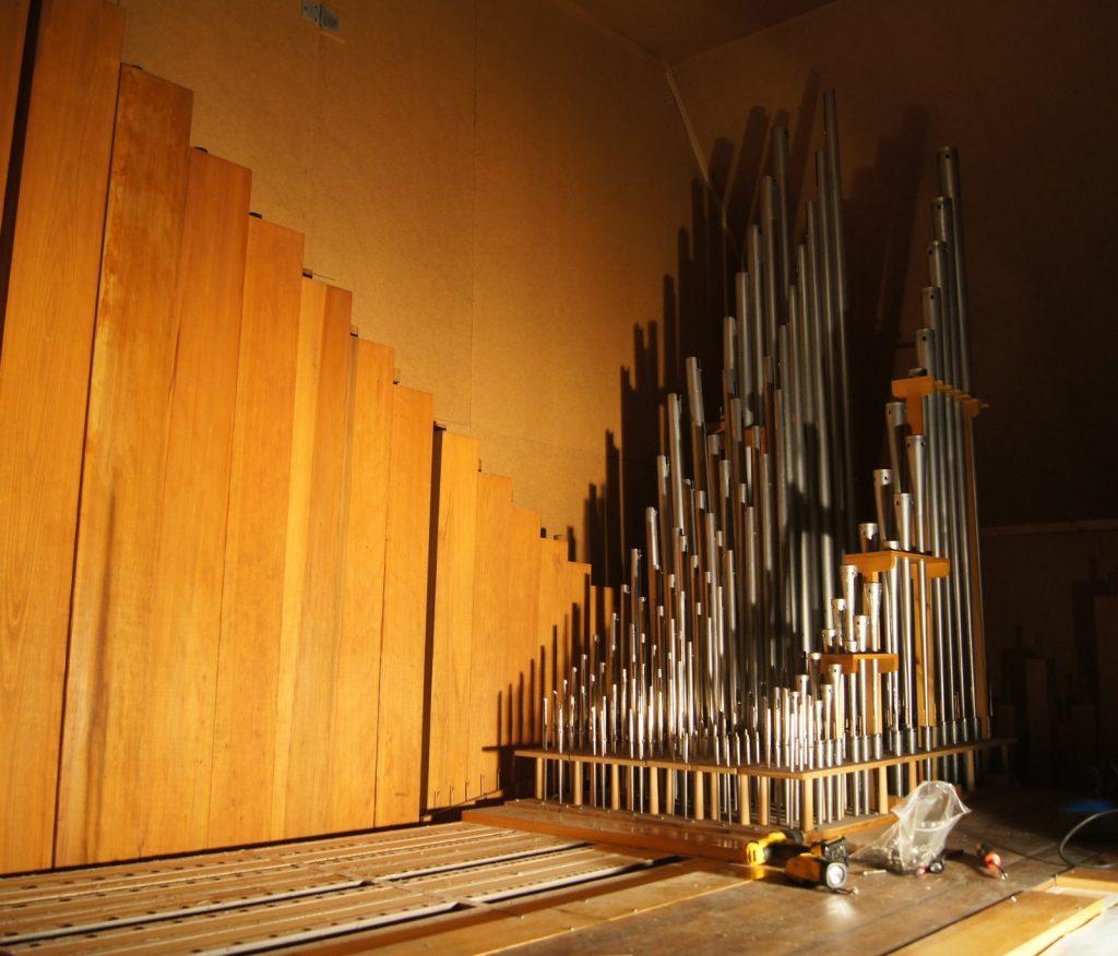 Blick auf die Cs Seite des II.Manuals. Moen Kirke in Brandbu, Gran Kommune , Oppland , Norwegen