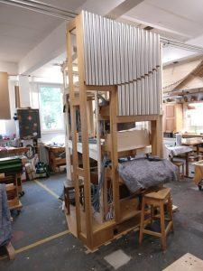 Werkstattmontage Versöhnung - Spieltisch mit Prospekt