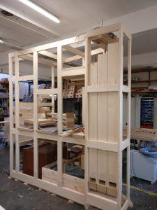 Werkstattmontage Versöhnung - Rahmenwerk mit Subbasspfeifen