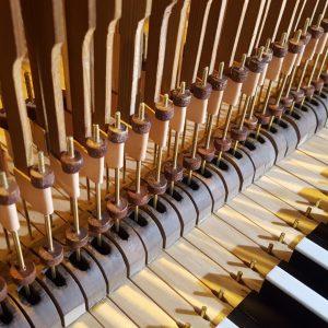 Niemegk: Rekonstruierte Klaviatur mit eingebauter Traktur