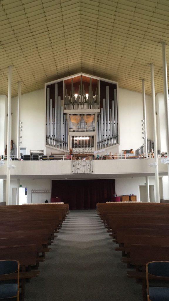 Wuppertal Christuskirche: Prospekt im Kirchenraum